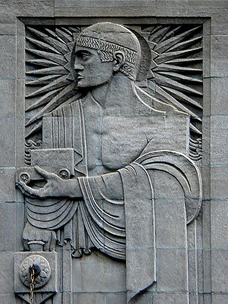 Relief sculpture, Grand Central Station.