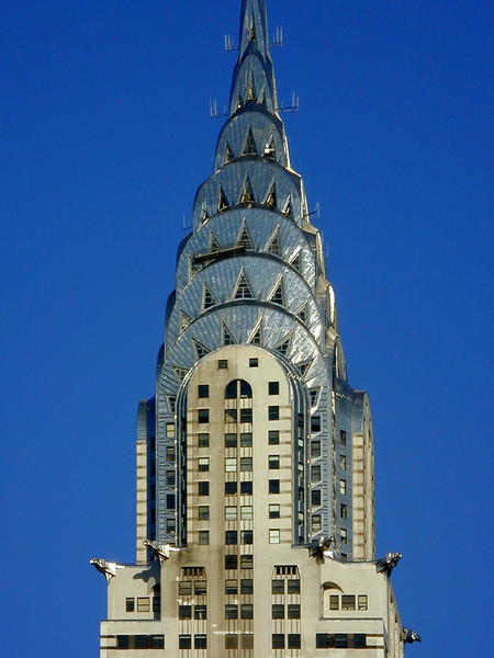 Chrysler Building upper section.