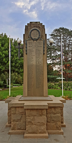 12 February 2020: Victory Memorial Gardens Cenotaph, Wagga Wagga, New South Wales.