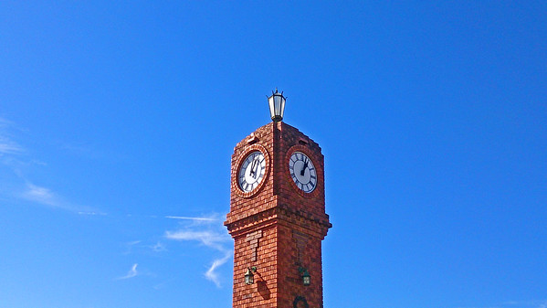 6 May 2017: War Memorial clock tower, Mudgee, New South Wales.