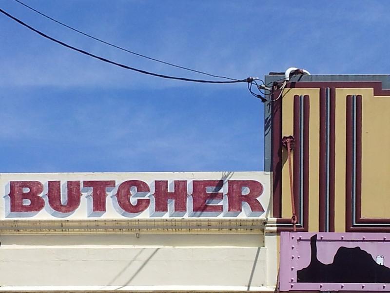 17 October 2013: Shop parapet detail, Coonabarabran, New South Wales.