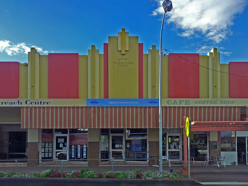 26 July, 2014: Shopfronts, Gilgandra, New South Wales.