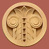 3 August, 2014: Former Bank of New South Wales, Hamilton, Newcastle, New South Wales; ceramic parapet medallion.
