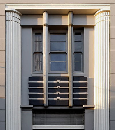 11 February 2020: Entrance portal, Commonwealth Bank of Australasia, Leeton, New South Wales.