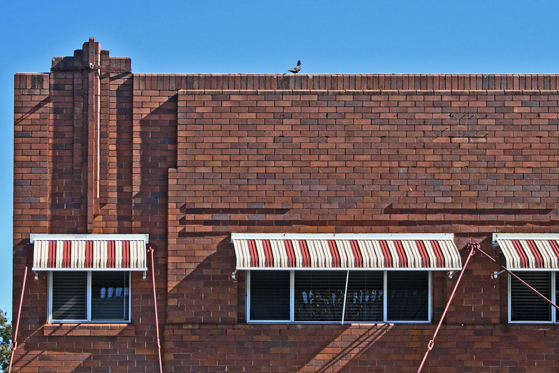1 August, 2014: Shop parapet, Inverell, New South Wales.