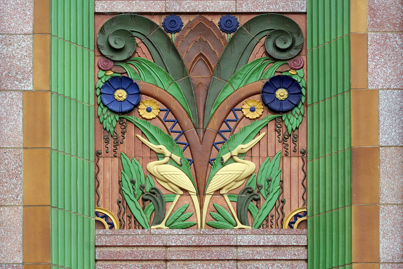 Elmslea Chambers, 17 Montague Street, Goulburn, New South Wales, Australia: magnificent terracotta spandrel relief.