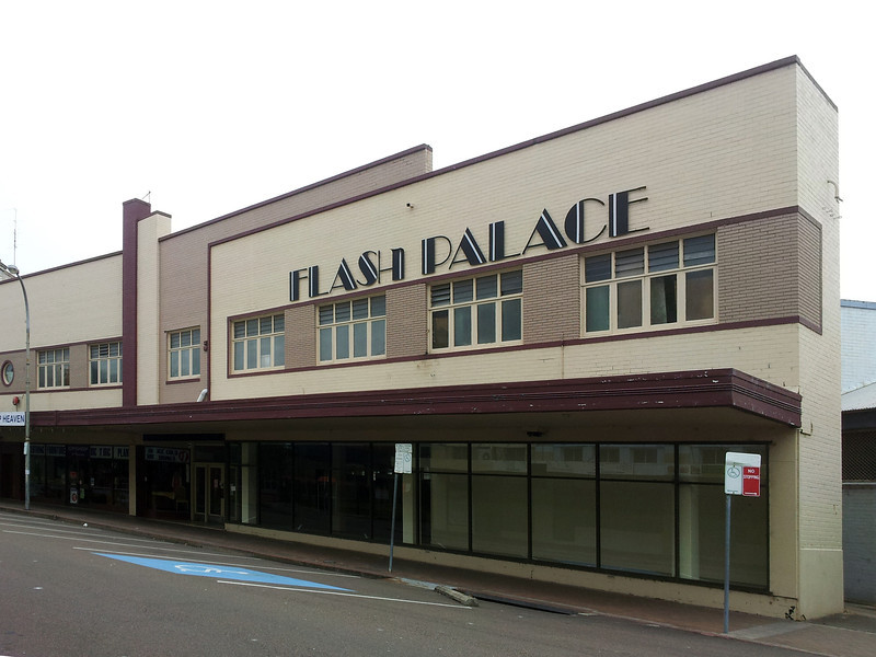 20 October 2013: Flash Palace, retail building, Maitland, New South Wales.