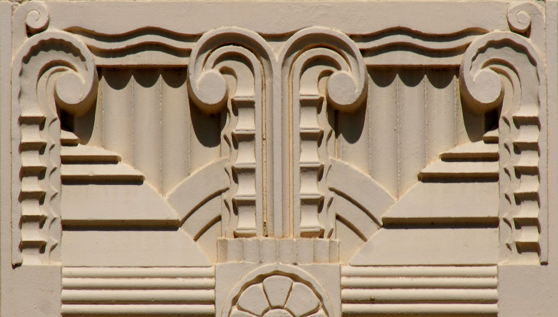 Facade moulding, Commonwealth Bank of Australasia, Goulburn Street, Crookwell, New South Wales, Australia.