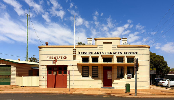 03 February 2020: Fire Station, Peak Hill, New South Wales.