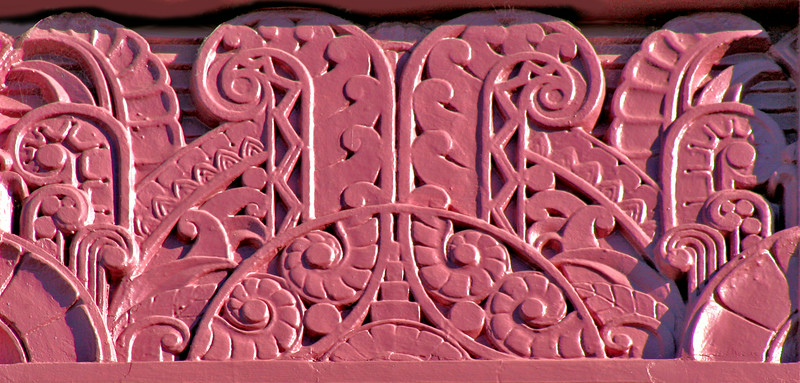 27 July 2014: Spandrel moulding detail, former Commonwealth Bank of Australasia building, Armidale, New South Wales