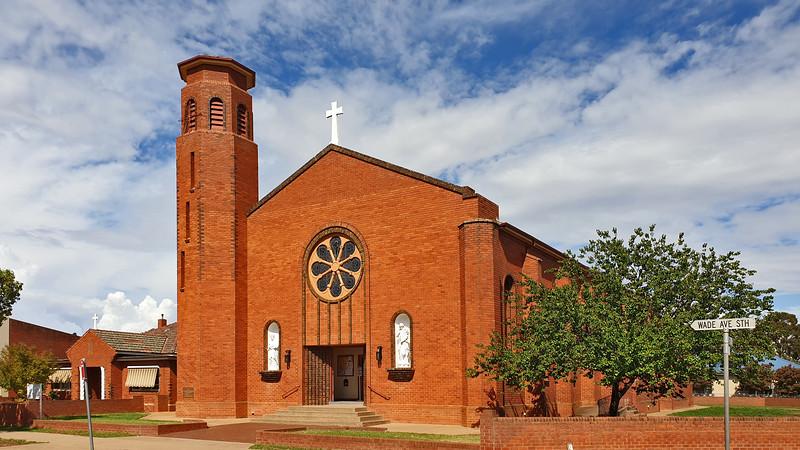 11 February 2020: St Joseph's Roman Catholic Church and presbytery, Leeton, New South Wales.