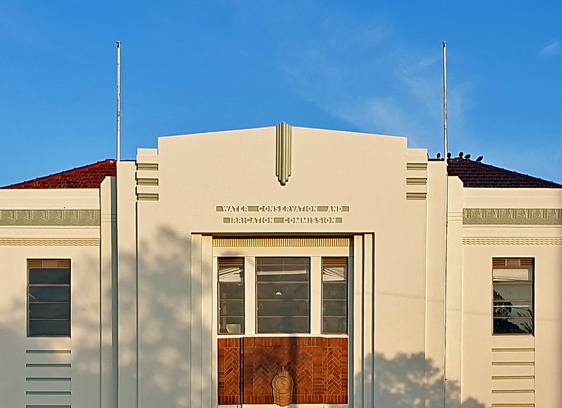 12 February 2020: Water Conservation and Irrigation Commission Building, Leeton, NSW.