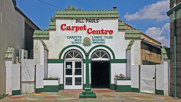 25 January 2015: Spanish mission-style former service station, Canowindra, New South Wales.
