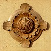 03 February 2020: Dubbo War Memorial, Dubbo, New South Wales. Bronze waratah medallion.