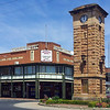 17 October 2013: Imperial Hotel and adjacent memorial clocktower, Coonabarabran, New South Wales