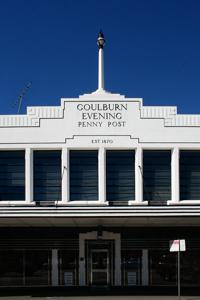 Goulburn Evening Penny Post, Auburn Street, Goulburn, New South Wales, Australia.