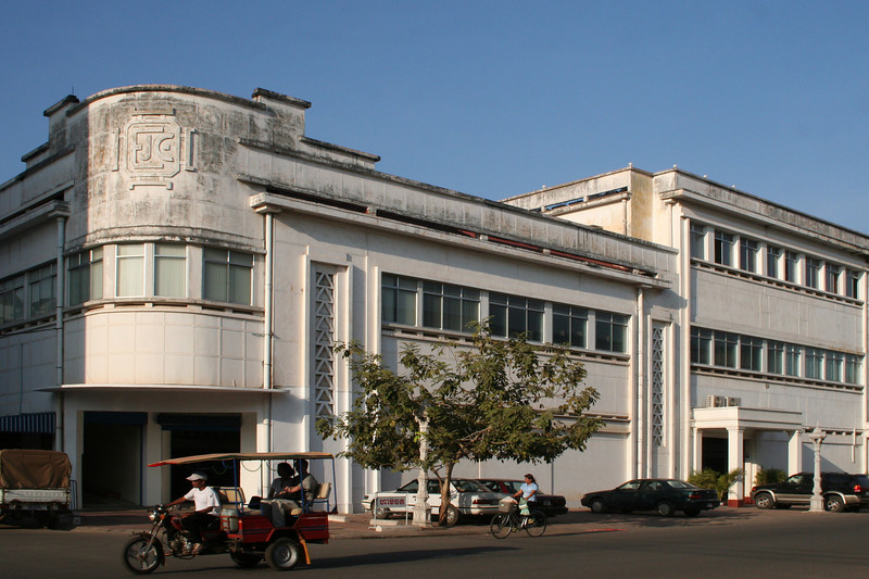 EJE Building, downtown Phnom Penh, Cambodia.