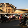 Central Market, Phnom Penh, Cambodia, constructed in the 1930s. The building's dome is said to be among the largest in the world.