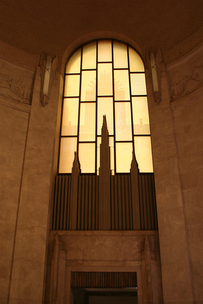 ANZAC War Memorial, Sydney. Interior view, showing the west window.