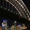 Sydney Harbour Bridge and city skyline, viewed from Milsons Point.