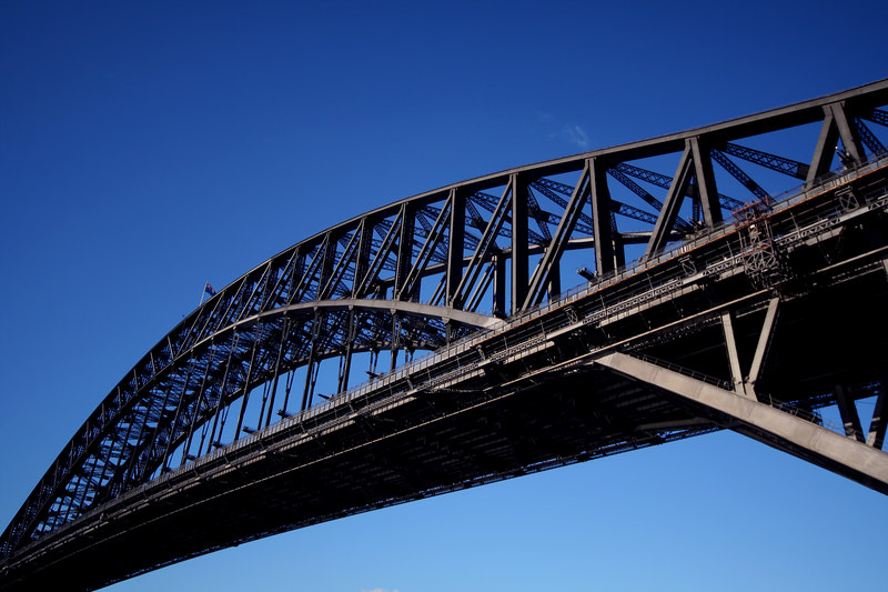 View of Sydney Harbour Bridge from Hickson Road.