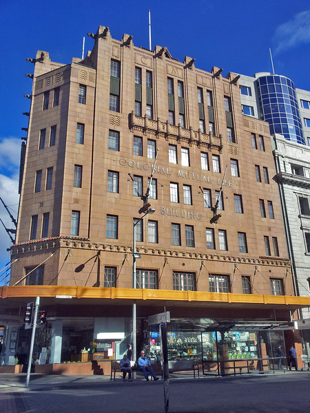 25 July 2015: Colonial Mutual Life Building, Elizabeth Street, Hobart. There are Colonial Mutual buildings constructed to a similar design in Brisbane and Newcastle.