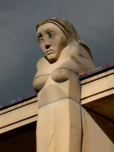 Monumental entrance sculpture, Royal Hobart Hospital, Liverpool Street, Hobart.