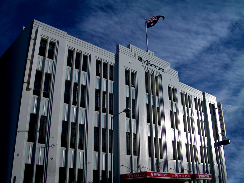 The Mercury, Tasmania's main daily newspaper, 91-93 Macquarie Street, Hobart, Tasmania.