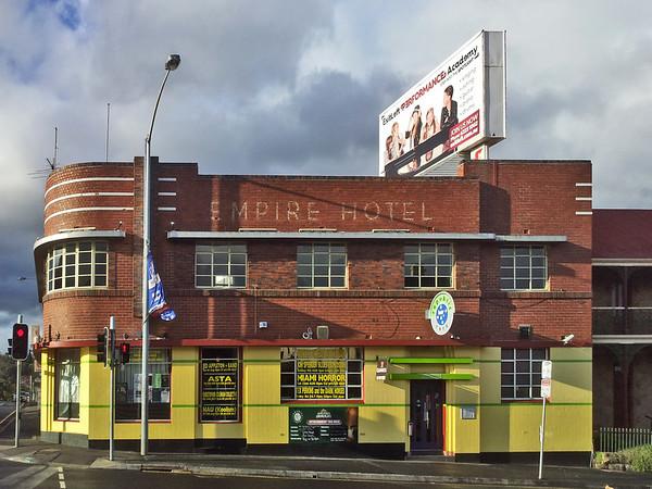 26 July 2015: Empire Hotel, Elizabeth Street, North Hobart, Tasmania.