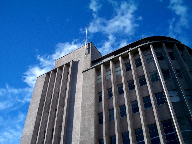 Commonwealth Bank Building, corner of Liverpool and Elizabeth Streets, Hobart, Tasmania.