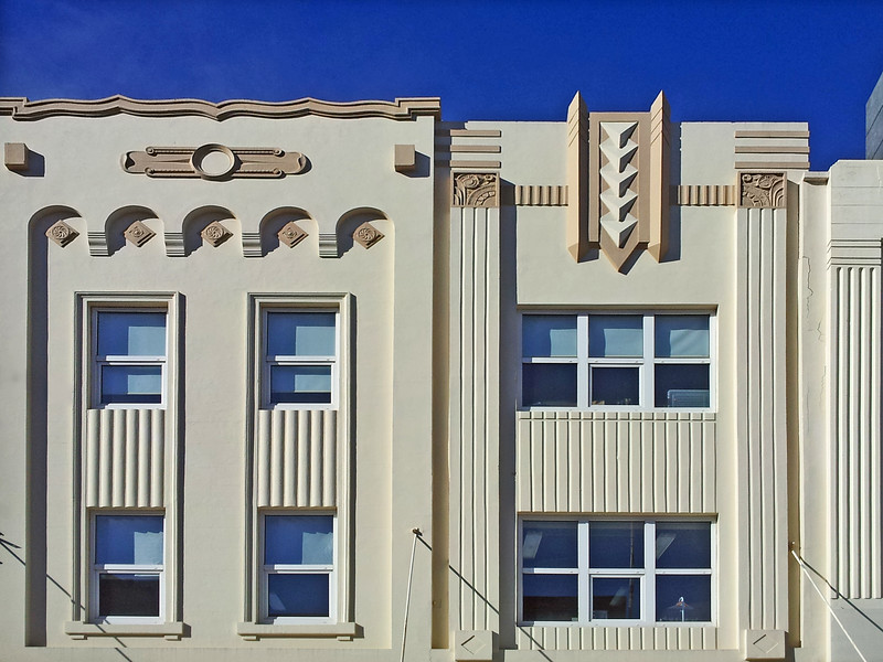 25 July 2015: Retail shop facades, Hobart, Tasmania.
