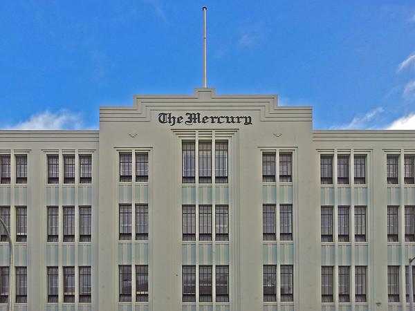 27 July 2015: The Mercury, southern Tasmania's main daily newspaper, 91-93 Macquarie Street, Hobart, Tasmania.