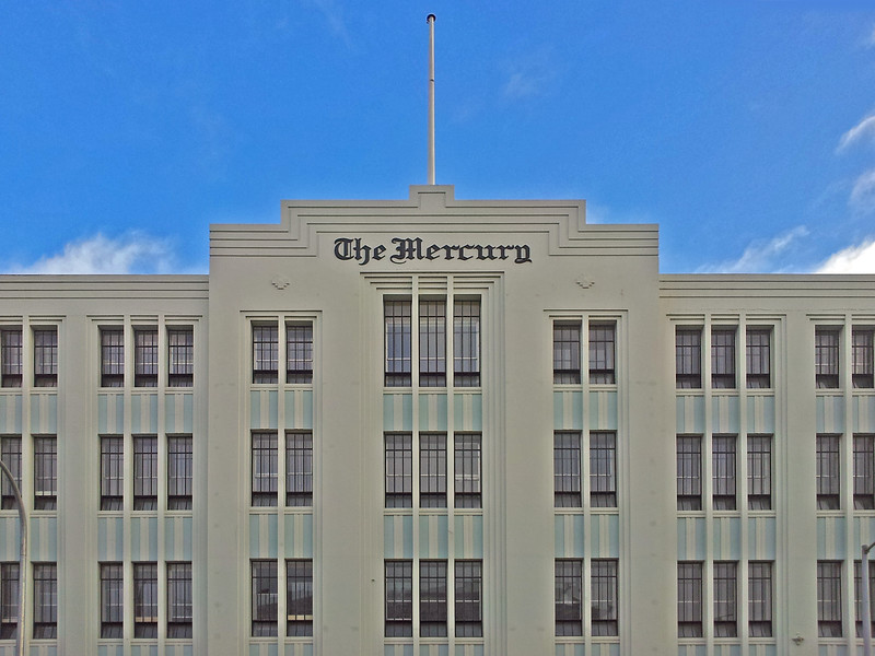 27 July 2015: The Mercury, southern Tasmania's main daily newspaper, 91-93 Macquarie Street, Hobart, Tasmania.