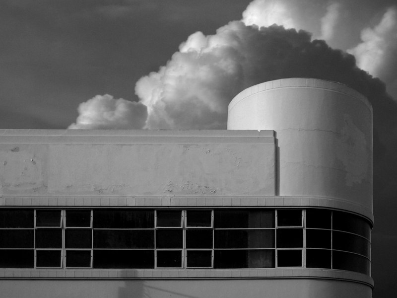 Streamline moderne factory on the corner of Wellington and Brisbane Streets, Launceston, Tasmania.