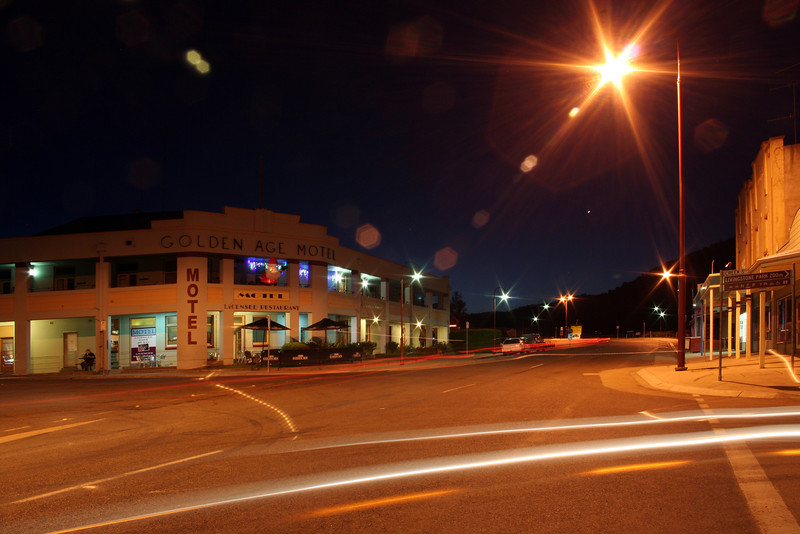 31 December 2011: Night view of the Golden Age Motel, Omeo, eastern Victoria.