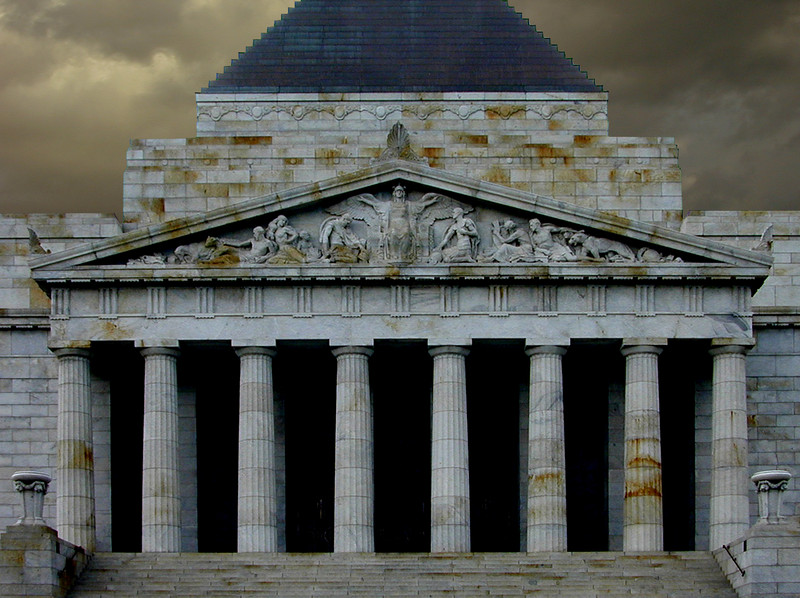 Main entrance, Shrine of Remembrance, Melbourne.