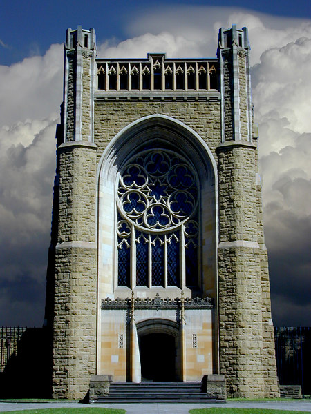 Chapel of Newman College at the University of Melbourne, designed by Walter Burley Griffin.