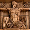Relief sculpture, National Bank of Australasia, Collins Street, Melbourne.