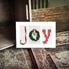 JOY Easel Holiday Decor