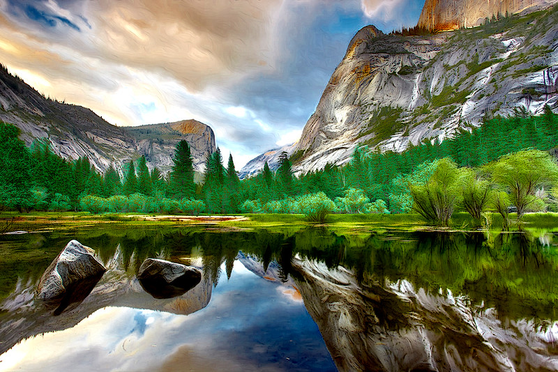 Yosemite Reflections #1 - Mirror Lake, Yosemite National Park, California