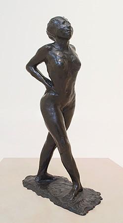 Sculpture of dancer cast in bronze by Degas