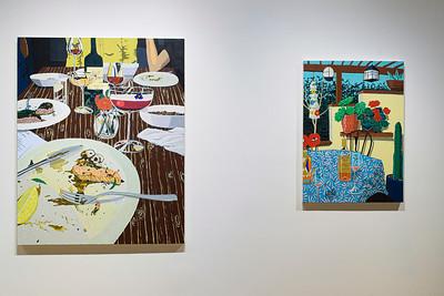 Birthday Dinner, 2019 (left); Summer Patio, 2019 (right)