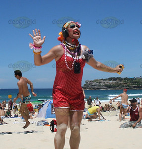 Photos from Say Cheese! Flash Mob at Bondi Beach , 14th November 2009. Starring Joyce Mange, Organised by Dan Murphy from Rock Your Box.  Check their channel at http://www.youtube.com/user/RockYourBox to watch the video.  Photo's are all available for purchase.  Copyright 2009 Mark Dickson & Deep Field Photography.