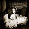 bride doll sepia