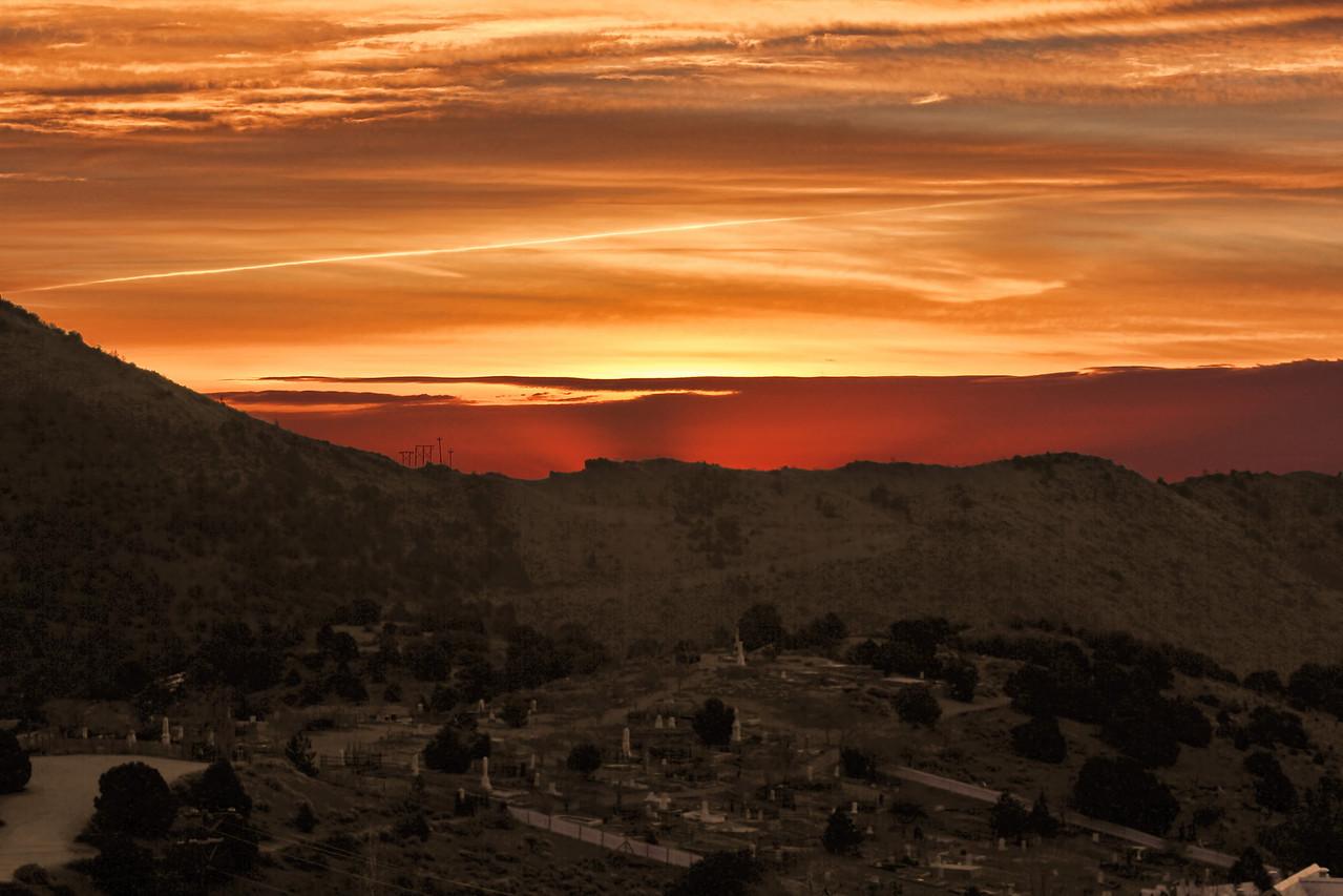 Virginia City Cemetary -  Sunrise