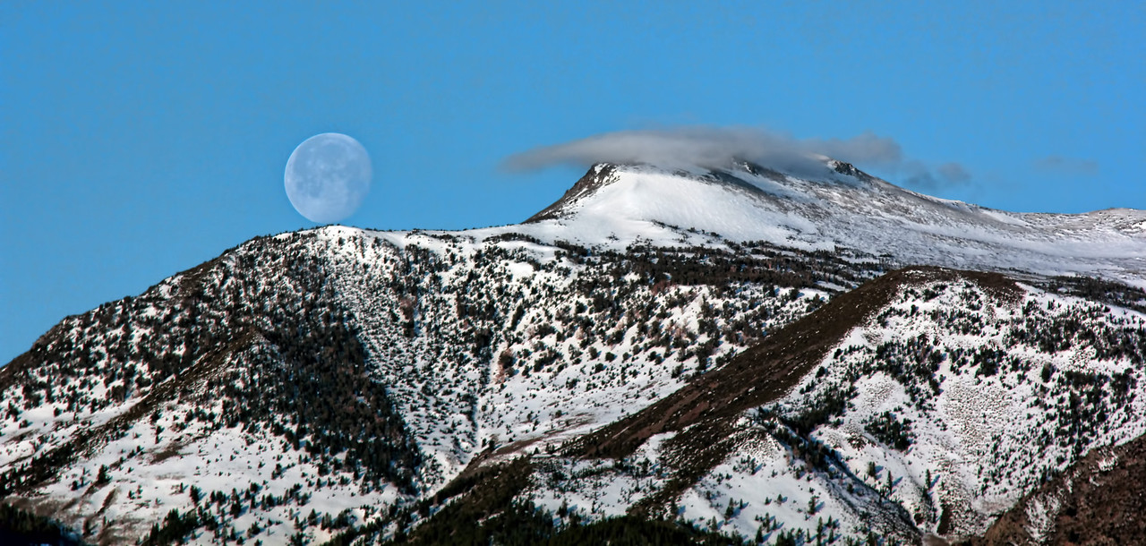 Moon on Mount Rose
