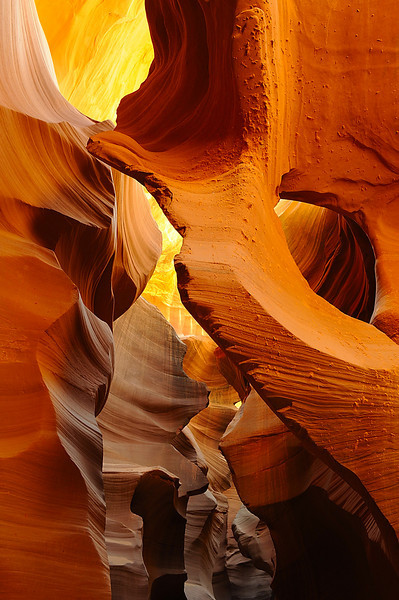 Antelope Canyon, as the light filtered into the slot canyon the colors were only exceeded by the shapes and texture.