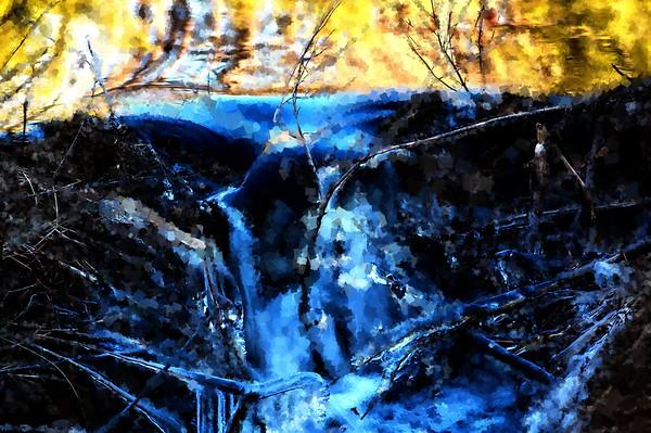 Ice Abstract - Wells State Park, Sturbridge, MA