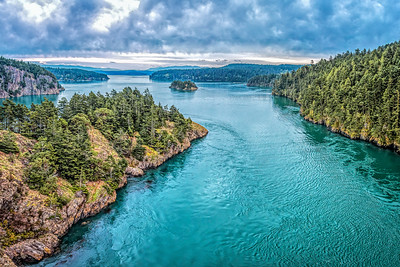 View from Deception Pass; Washington