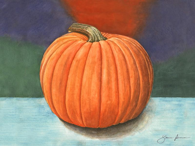"""<i>Pumpkin</i>  (2015) Watercolor - 9"""" x 12"""""""